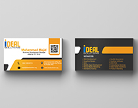Designed a business card for Ideal Solutions