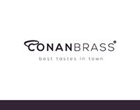 Conan Brass Logotype Design