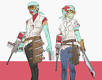 Post-apocalypse RPG classes (9 illusts)
