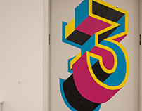 Hand Painted Floor Numbers