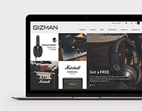 GIZMAN Lifestyle showroom | Web concept