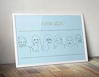 New Girl Sketch Poster