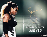 Serena Williams Upper Deck Campaign