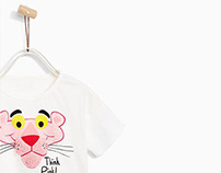 ZARA KIDS BABY GIRL - T-shirt PINK PANTHER