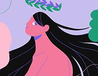 Profile bust - Illustration