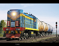 Russian shunting locomotives