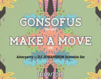 Make a Move & Gonsofus ∞ 3 x Poster