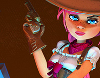 Wild West Game Character Art - Real time Challenge