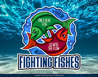 Fighting Fishes Sticker