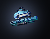 Custom Car Servicing Logo