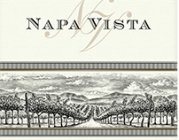Napa Vista Wine Label Illustrated by Steven Noble