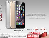 Anúncio Apple Iphone 6 para Pontofrio