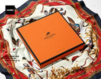Silk Scarf Box Mockup Set (07/FFv.12)