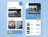 Gym Workout App Design