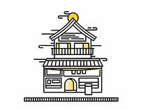 Japan store illustration