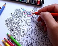 "Adult coloring book - ""swears to say to your ex"""