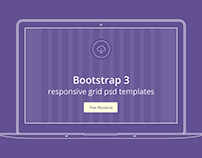 Bootstrap 3 responsive grid psd templates