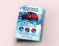 Car Wash Flyer Title Design