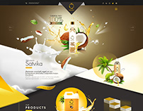 Satvika Coconut Oil Website