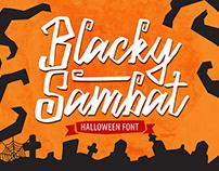 Blacky Sambat – Halloween Font