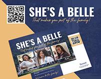 Bennett College - She's A Belle (Postcard Mailer)