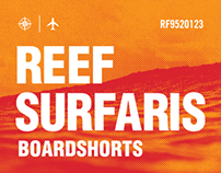 REEF SURFARIS BOARDSHORT HANG TAGS