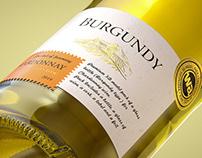 BURGUNDY bottle 3D model for Chardonnay wines