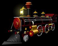 Locomotora, Modelado 3D en Autodesk Maya
