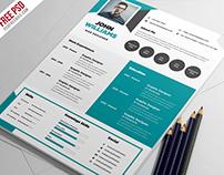 Free Creative Resume Template PSD