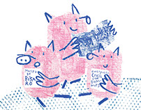 Three little pigs (exhibition)