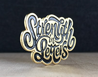 Strength in Letters Pin
