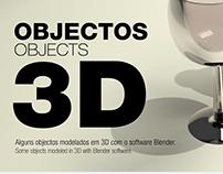 Objectos modelados em 3D | Blender
