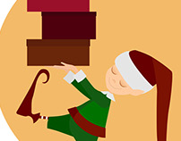 Design character Christmas elves
