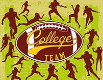 American Football graphic design vector art