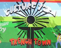 Culture Yard Mural in Trenchtown Jamaica
