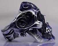 Skull Ring SilverWave