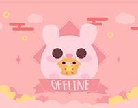 Cute Pink Rabbit Twitch Stream Design