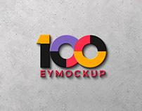 Free Creative 3D Wall Logo Mockup