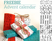 Free printable - Advent calendar wrapping paper