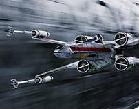 Star Wars Fan Art - The Battle of Yavin - X Wing
