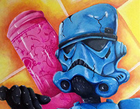 Still Life Vs Starwars (Series) Painting
