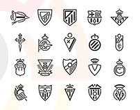 Shields La liga | Flat Design