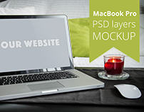 FREE Apple MacBook Pro PSD layers MOCKUP