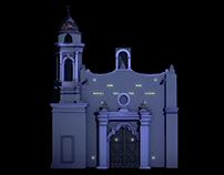 Proyección de Video Mappin en Plaza Tlaxcoaque.