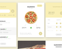 Pizza UI Kit | FREE PSD