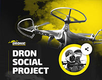 Web design for Dronie social network