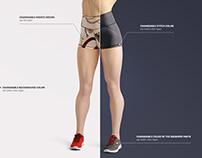 Yoga Shorts Mockup