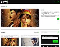 Layout Blog Agência Sawi