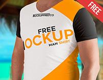 Man T-Shirt - 2 Free PSD Mockups