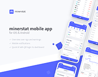 minerstat mobile app for iOS and Android